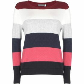 Mint Velvet Striped Colour Blocked Knit