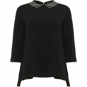 Phase Eight Eliora Embellished Collar Knit