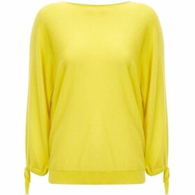 Mint Velvet Yellow Tie Cuff Batwing Knit