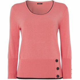 Roman Originals Contrast Button Detail Top