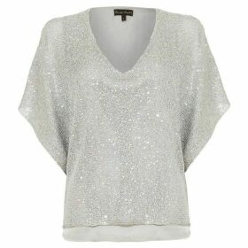 Phase Eight Antonella Hologram Sequin Knit