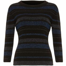Phase Eight Samina Shimmer Stripe Knit