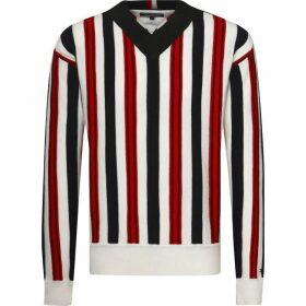 Tommy Hilfiger Bold Stripe V Neck Sweater