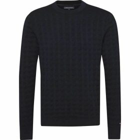 Tommy Hilfiger Houndstooth Crew Neck Sweater