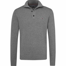 Tommy Hilfiger Button Mock Cashmere Sweater