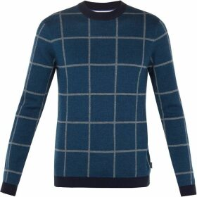 Ted Baker Legit Ls Check Knitwear