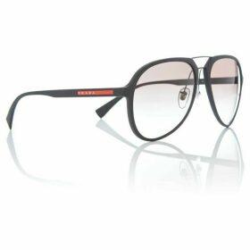 Prada Linea Rossa Black rubber pilot 0PS 05RS sunglasses