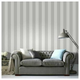 Superfresco Easy Sparkle Stripe White/Silver Wallpaper