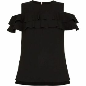 Ted Baker Hopee Cold Shoulder Double Frill Top