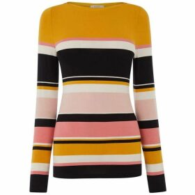 Oasis Multi Stripe Boatneck