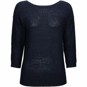 Wallis Navy Textured three quarter Sleeve