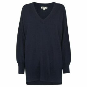 Whistles Relaxed Merino V Neck Knit
