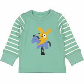 Polarn O Pyret Babies Striped Applique Top