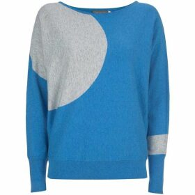 Mint Velvet Blue Circle Batwing Knit