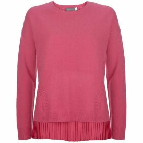 Mint Velvet Bright Pink Pleated Layer Knit