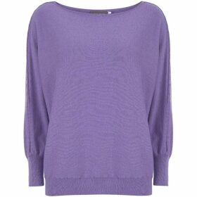 Mint Velvet Violet Button Batwing Knit