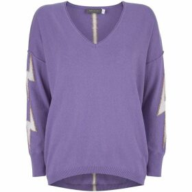 Mint Velvet Violet Lightning V-Neck Knit