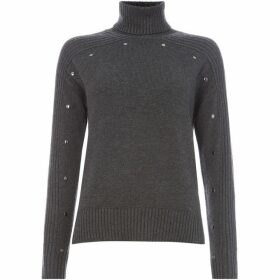 Label Lab Stud detail high neck knit