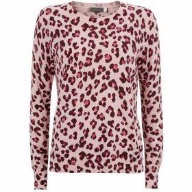 Mint Velvet Pink Leopard Print Knit