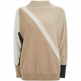 Mint Velvet Neutral Blocked Batwing Knit