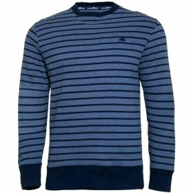 Raging Bull Big & Tall Stripe Crew Sweater