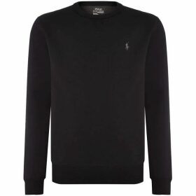 Ralph Lauren Crew Neck Sweat With Heat Transfer Polo Player