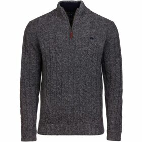 Raging Bull Big And Tall Cable Knit quarter Zip