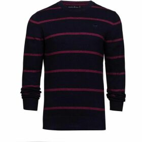 Raging Bull Big and Tall Crew Neck Striped Sweater
