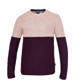 Ted Baker Gimme Ls Colour Block Rib Crew Neck