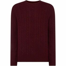 Howick Andover Lambswool Cable Crew Neck