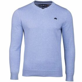 Raging Bull Big And Tall V-Neck Cotton/Cashmere Sweater
