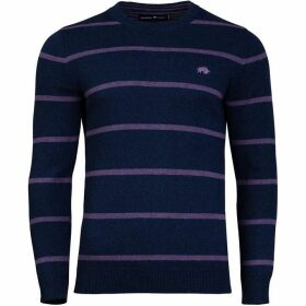 Raging Bull Crew Neck Striped Sweater