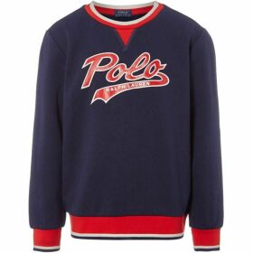 Ralph Lauren Large Polo Logo Baseball Crew Neck