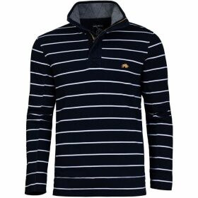 Raging Bull Big And Tall Stripe Pique quarter Zip Sweat