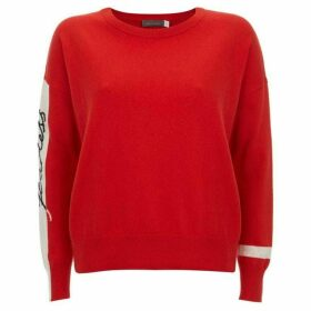 Mint Velvet Tomato Red Fearless Boxy Knit