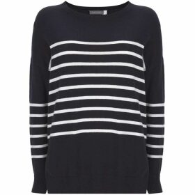 Mint Velvet Navy Stripe & Star Knit