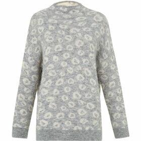Whistles Alpaca blend Jacquard Knit