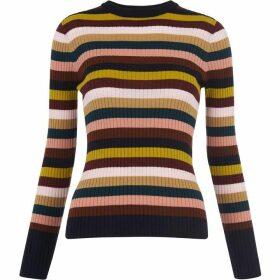 Whistles Multi Stripe Rib Knit
