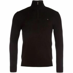 Eden Park Cotton Sweater with Zip Up Detail