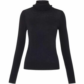 Whistles Frill Neck Merino Knit