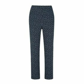 Osterley Spot Satin Back Crepe Slim Leg PullOn Trousers
