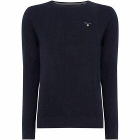 Gant Cotton Pique Crew Neck Knit