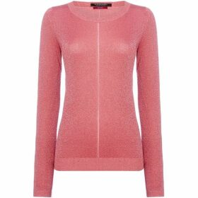 Maison Scotch Fine lurex plain knit
