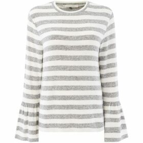 Maison De Nimes Cut and Sew Elm Stripe Bell Sleeve