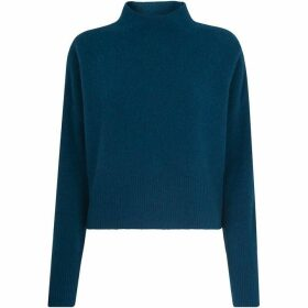 Whistles Cropped Funnel Neck Knit