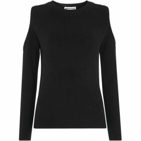 Whistles Embellished Cold Shoulder Knit