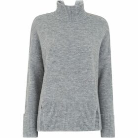Whistles Rib Detail Funnel Neck Knit