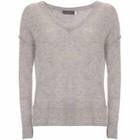 Mint Velvet Silver Grey Raw Seam Detail Knit