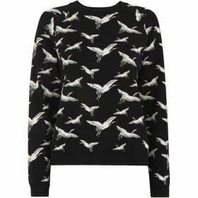 Whistles Crane Jacquard Knit