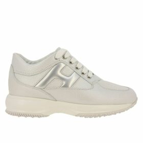 Hogan Sneakers Hogan Interactive Sneakers In Satin Leather With Rounded H